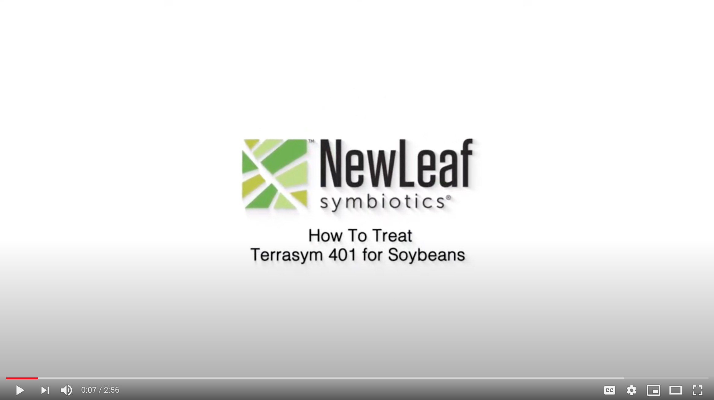 How to treat soybeans with Terrasym